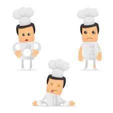 Free Set Of Funny Cartoon Chef Stock Photo - 19400430