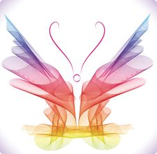 Free Smooth Colorful Abstract Butterfly Royalty Free Stock Images - 19401719