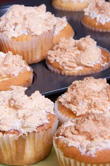 Free Delicious Meringue Cupcakes Stock Image - 19401821