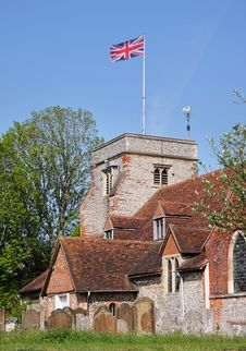 Free An English Village Church And Tower Royalty Free Stock Photos - 19401838