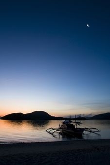 Sunrise On Desert Island