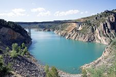 Natural Park Of The Gorges Of Cabriel In Spain Royalty Free Stock Photo