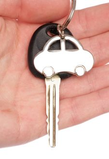 Free Hand Holding Car Key Royalty Free Stock Images - 19403329