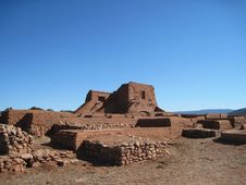 Free Adobe Ruins 8, Pecos Nat L Historic Park, NM Stock Photo - 19403350