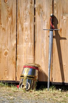 Free Helm And Sword Stock Images - 19403854