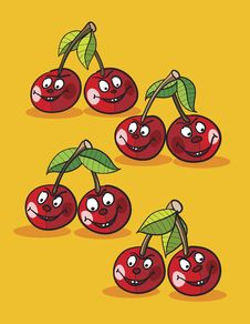 Free Cherries Cartoon Stock Image - 19403981