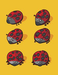 Lady Bugs Cartoon Stock Photography
