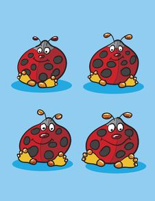 Lady Bugs Drawing Royalty Free Stock Image
