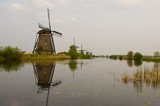 Free Windmills In Kinderdijk, Netherlands Royalty Free Stock Image - 19404036