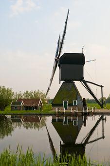 Windmills In Kinderdijk, Netherlands Royalty Free Stock Photography