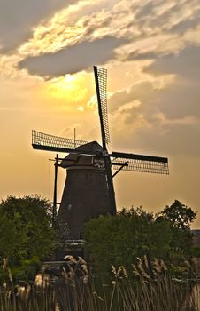 Windmills In Kinderdijk, Netherlands Royalty Free Stock Photos