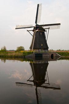 Windmills In Kinderdijk, Netherlands Stock Photography