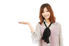 Free Asian Woman Hand Showing Blank Sign Stock Photos - 19405703