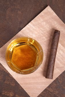 Free Cigar And Whiskey Stock Images - 19406374