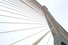 Rope Bridges And Towers. Stock Image