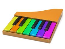 Free Colorful Piano Keyboard Stock Photos - 19406553