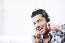 Free Young Man In Relax  Listening Music Stock Photo - 19407360
