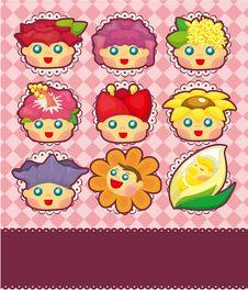 Cartoon Flower Fairy Card Stock Images