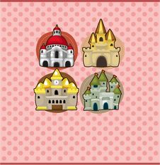 Free Cartoon Castle Card Stock Image - 19407661