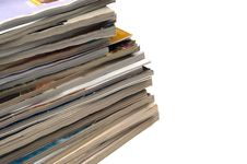 Free Recycling Old Magazines Royalty Free Stock Photography - 19408217