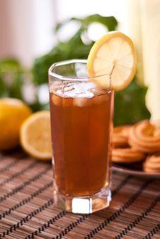Free Iced Tea With Lemon Stock Photo - 19408630