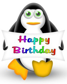 Free Penguin Happy Birthday Stock Photos - 19408683