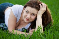 Free Woman Lying In The Grass Stock Photography - 19408842