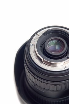 Free Cropped Photographic Lens On White Background Stock Photography - 19408922