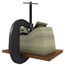 Free Clamp Presses The Money To A Wooden Board Royalty Free Stock Images - 19408949