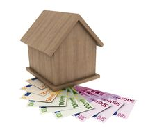 Free A Small Wooden House Stands On The Banknotes Of Th Royalty Free Stock Image - 19408966