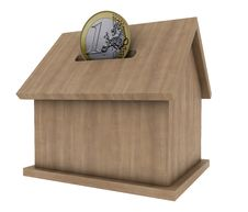 Free Wood House Coin Stock Photos - 19409473