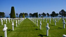 Soldier Cemetery In Normandy Royalty Free Stock Photography