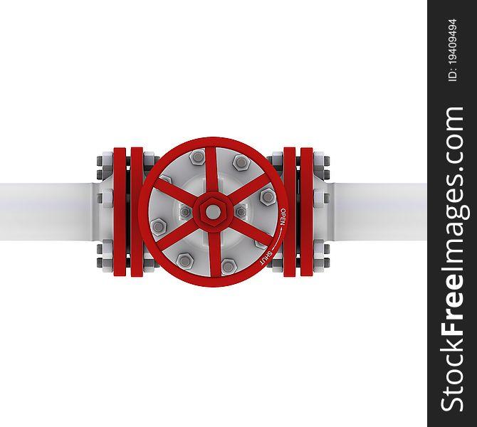 Valve with handwheel top view