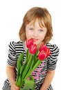 Free Littl Girl With Tulips. Stock Photo - 19415030