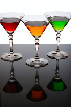 Free Three Glasses Of Cocktail Stock Photos - 19410553
