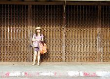 Free Young Woman On The Street Royalty Free Stock Image - 19410566