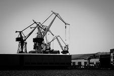 Free Harbour Cranes Stock Image - 19410671