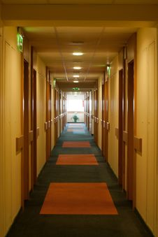 Free Corridor In The  Hotel Royalty Free Stock Photos - 19411508