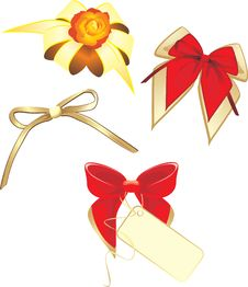Free Collection Of Bows Isolated On The White Royalty Free Stock Photo - 19411515