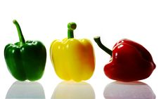 Free Three Peppers Royalty Free Stock Photography - 19411997