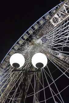 Free Ferris Wheel By Night Stock Image - 19413571