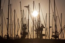 Free Docks At Sunset Royalty Free Stock Image - 19413746