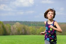 Free Running Girl Royalty Free Stock Images - 19413769