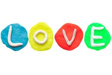 Free LOVE From Plasticine And Clay Royalty Free Stock Photography - 19414617