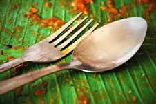Free Spoon And Fork Royalty Free Stock Photos - 19414718
