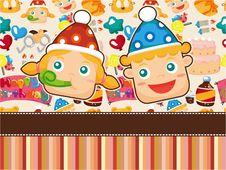 Free Cartoon Birthday Card Royalty Free Stock Photos - 19415068