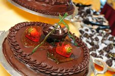 Free Dark Chocolate Dessert Royalty Free Stock Photos - 19415778