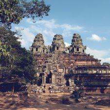 Angkor Thom In Cambodia Royalty Free Stock Photo