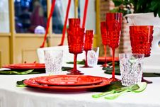 Free Dinner Table Setup - Italian Style Royalty Free Stock Photos - 19416058
