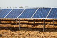 Solar Panel Plant Royalty Free Stock Photography